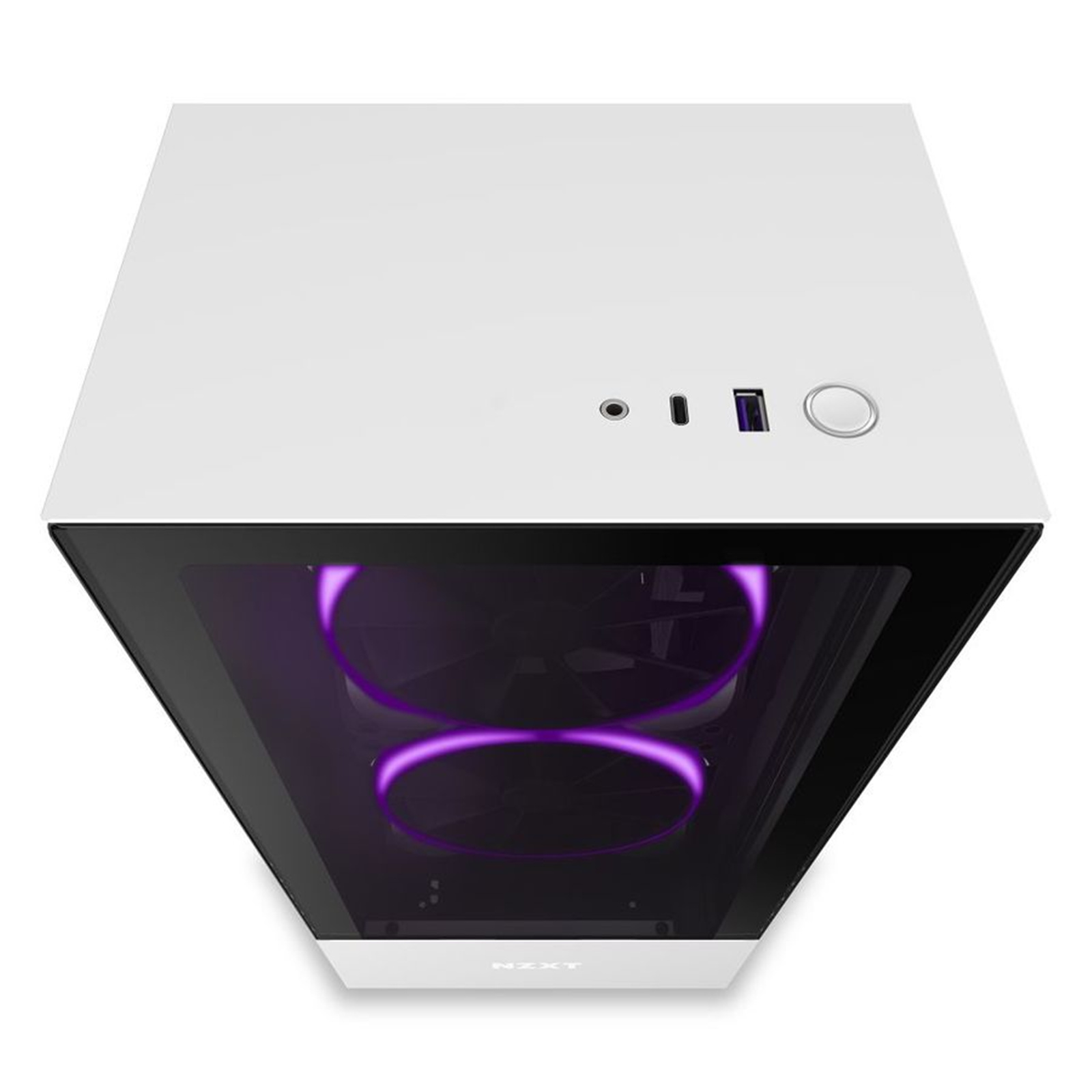 Buy The Nzxt H510 Elite Matte White Rgb Edition Atx Midtower Gaming Case Ca H510e W1 Online Pbtech Co Nz