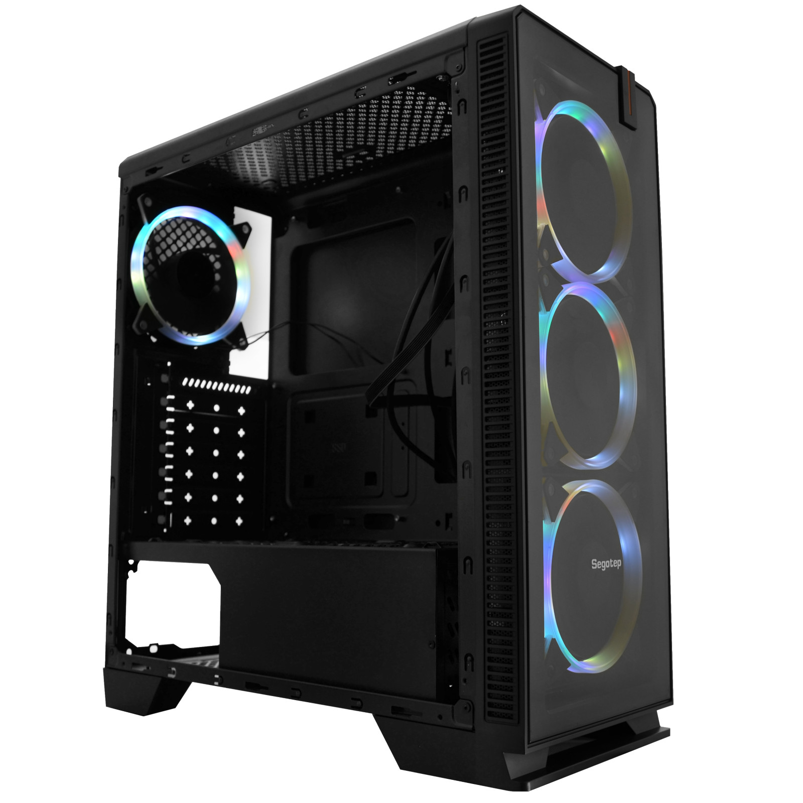 Buy The Segotep Halo 7 Plus Mid Tower Case With 4 X 120mm Rgb Fans Star Wiring Box Nz For Atx Online
