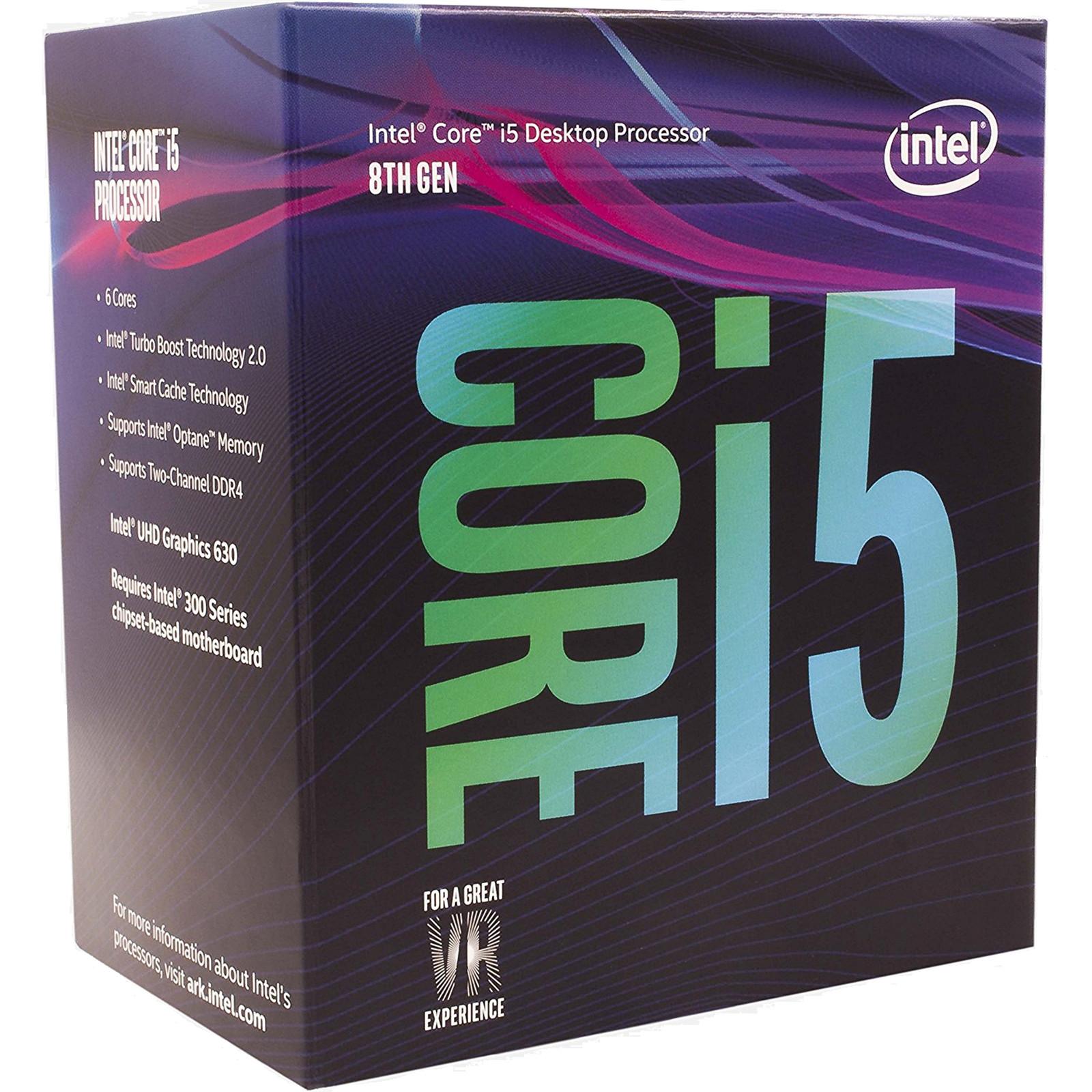 Buy the Intel Coffee Lake Core i5 8400 6 Core 2 8Ghz 9MB