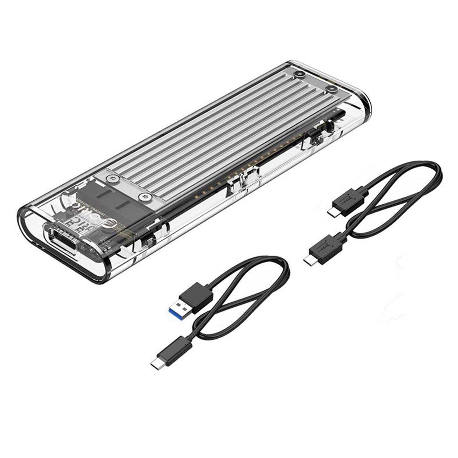 Buy the Orico Tramsparent M 2 NVME USB3 1 Gen 2 USB-C SSD