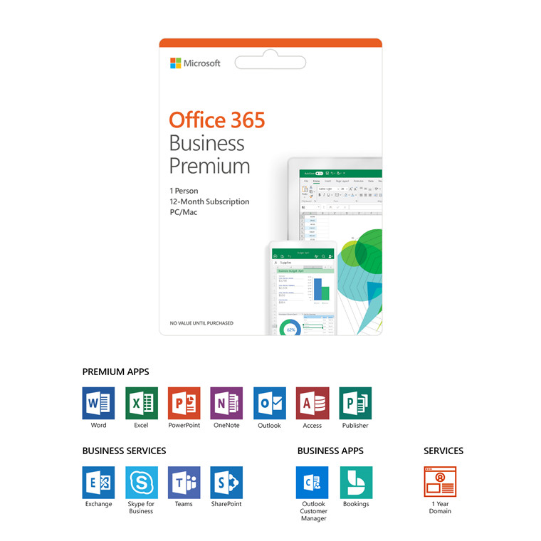 Buy The Microsoft Office 365 Business Premium Retail 2019 Esd
