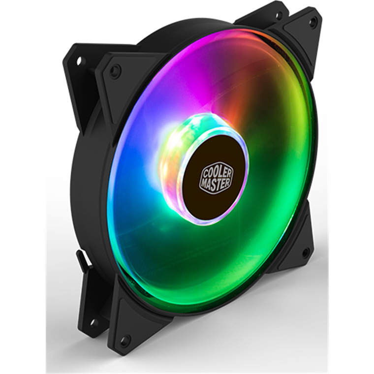 Buy the Cooler Master MasterFan Addressable PWM RGB FAN 140mm Certified     ( R4-140R-15PC-R1 ) online