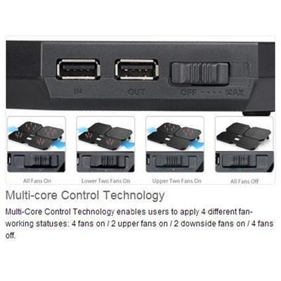 Buy the Deepcool Multi Core X6 Notebook Cooler With 2x140mm 2x100mm Fans      ( MULTICOREX6 ) online