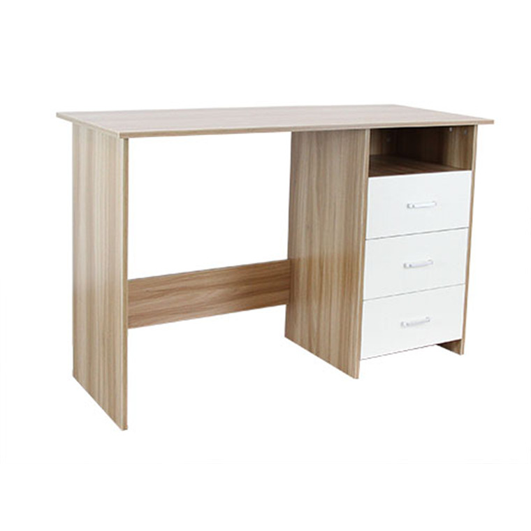 Omp Soho Series Firth Desk 3 Drawer Pine Veneer