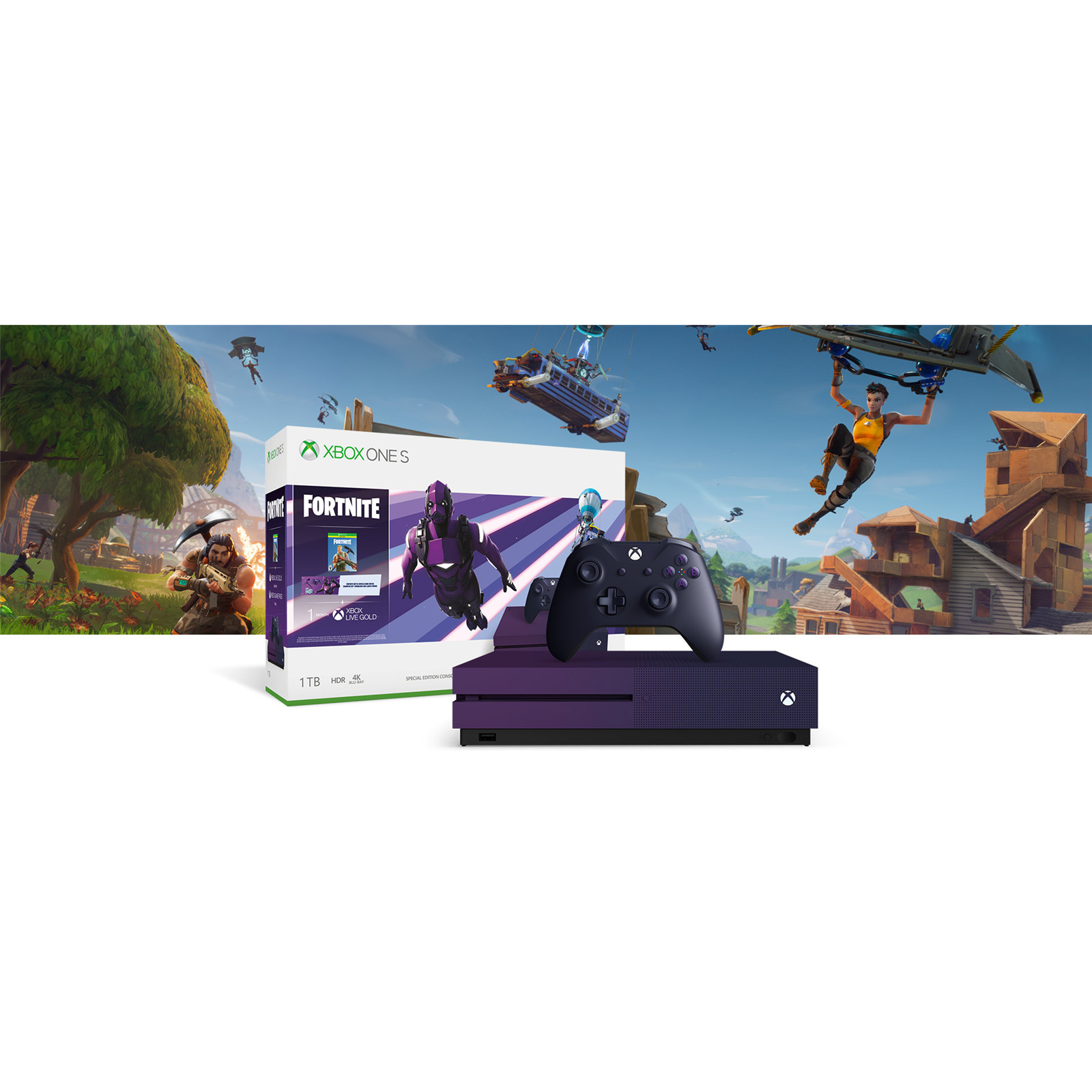 Buy the Microsoft XBOX ONE S 1TB Fortnite Battle Royale