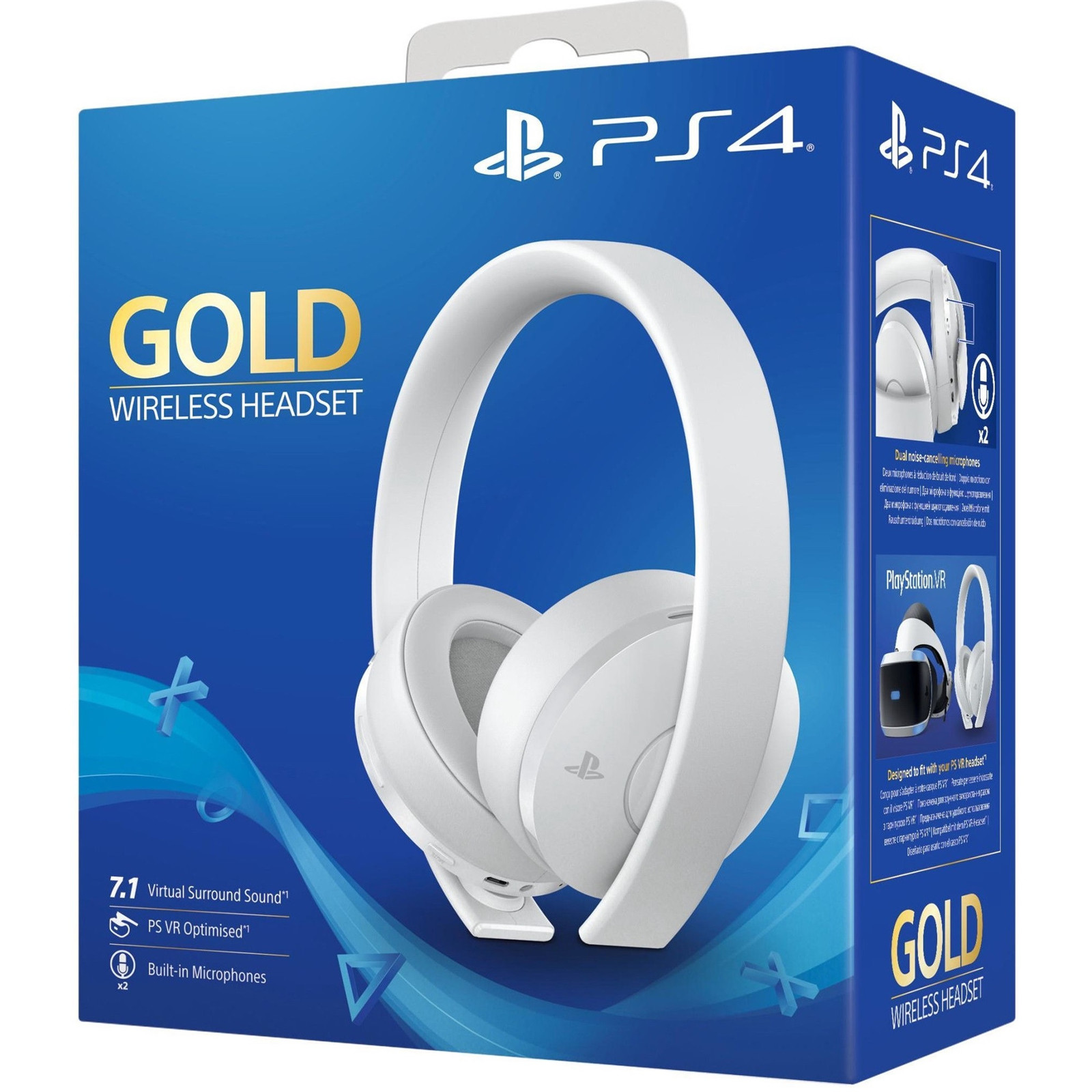 Buy the Sony Playstation Wireless Headset White For PS4 and