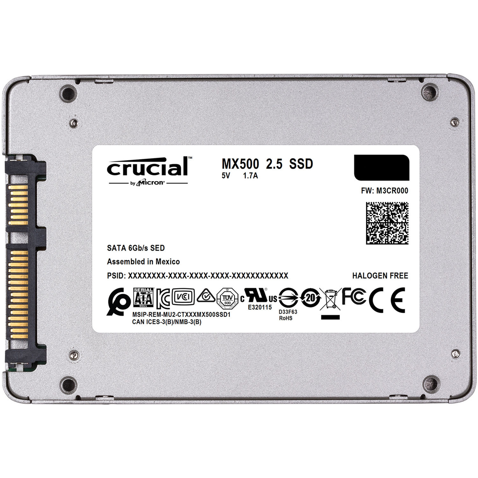 Buy The Crucial Mx500 500gb 25 Inch Ssd 7mm 95mm Adaptor 560mb Bracket Black Metal To 35 S Reading 510mb Writing 5 Years