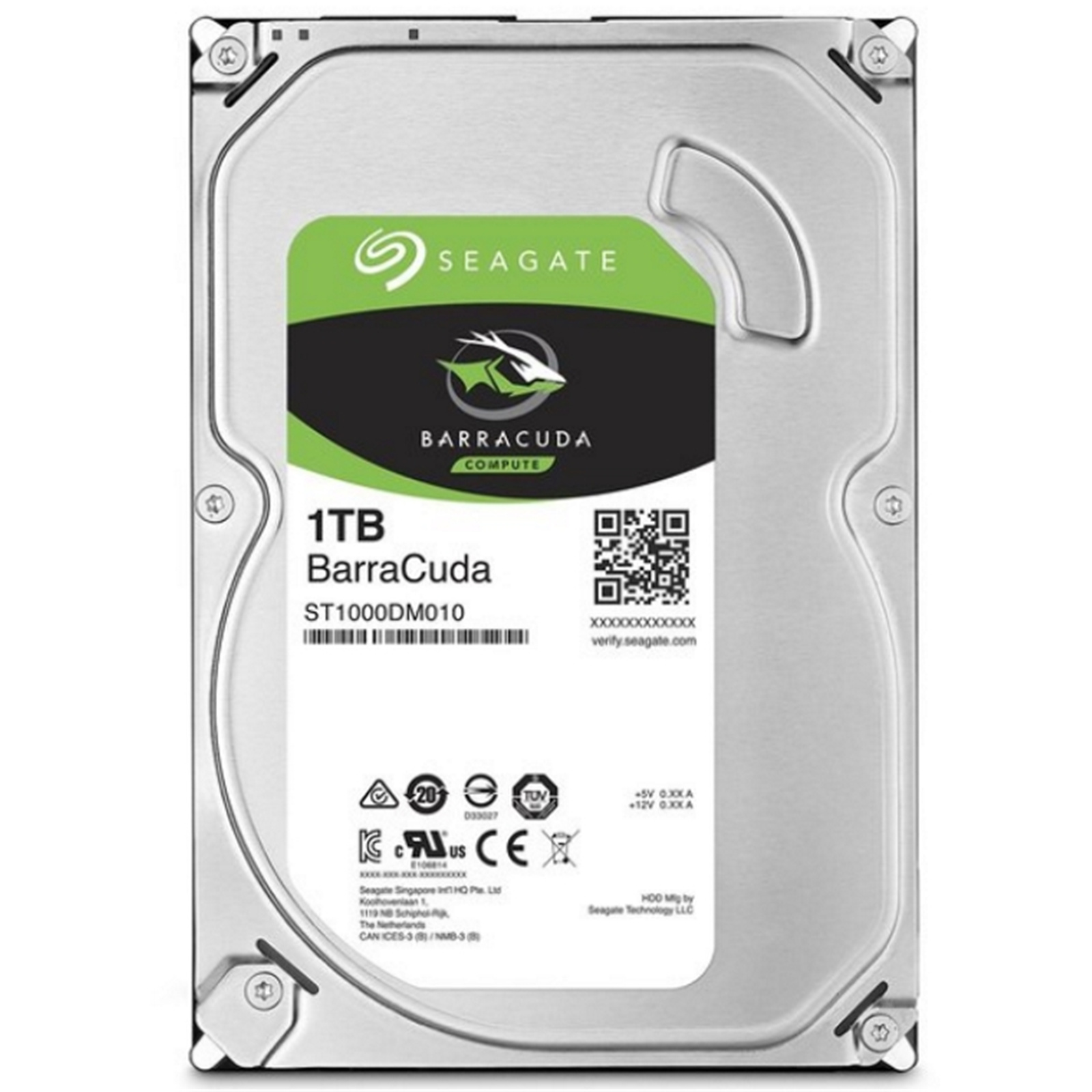 Seagate BarraCuda 1TB SATA3 3.5 inch 7200RPM 64MB Internal HDD ( 2 years warranty )