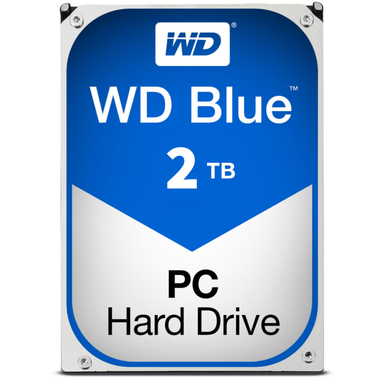WD 2TB Blue Edition 35 SATA3 Internal HDD 5400RPM 64M CACHE For Everyday Computing 2 Year Warranty