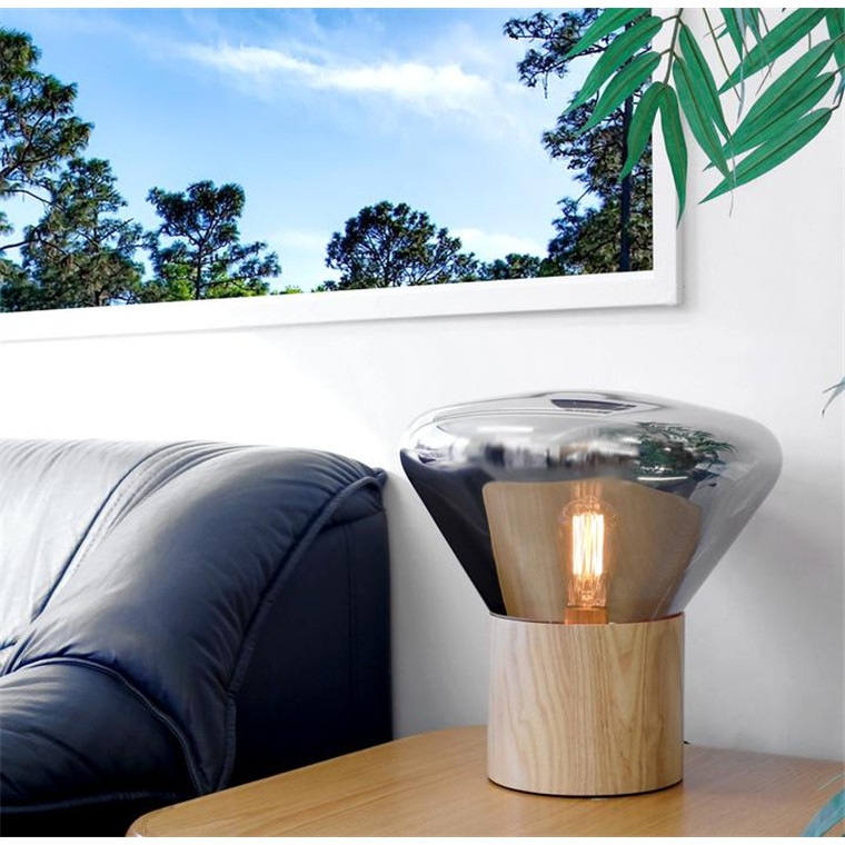 Buy The Morgan Spencer Modern Table Lamp Smoky Glass Finish