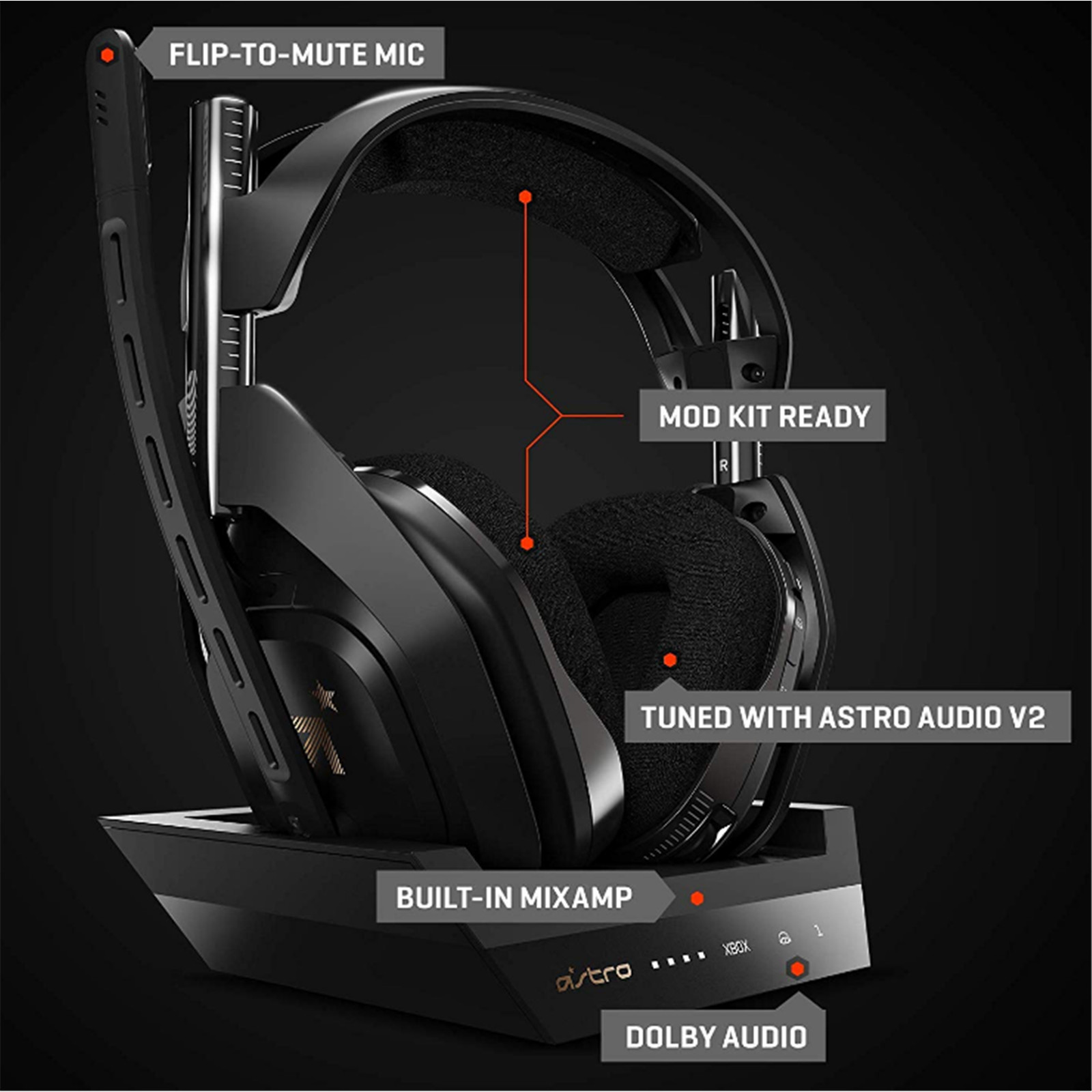 Buy the Astro New A50 Pro Wireless Gaming Headset For Xbox