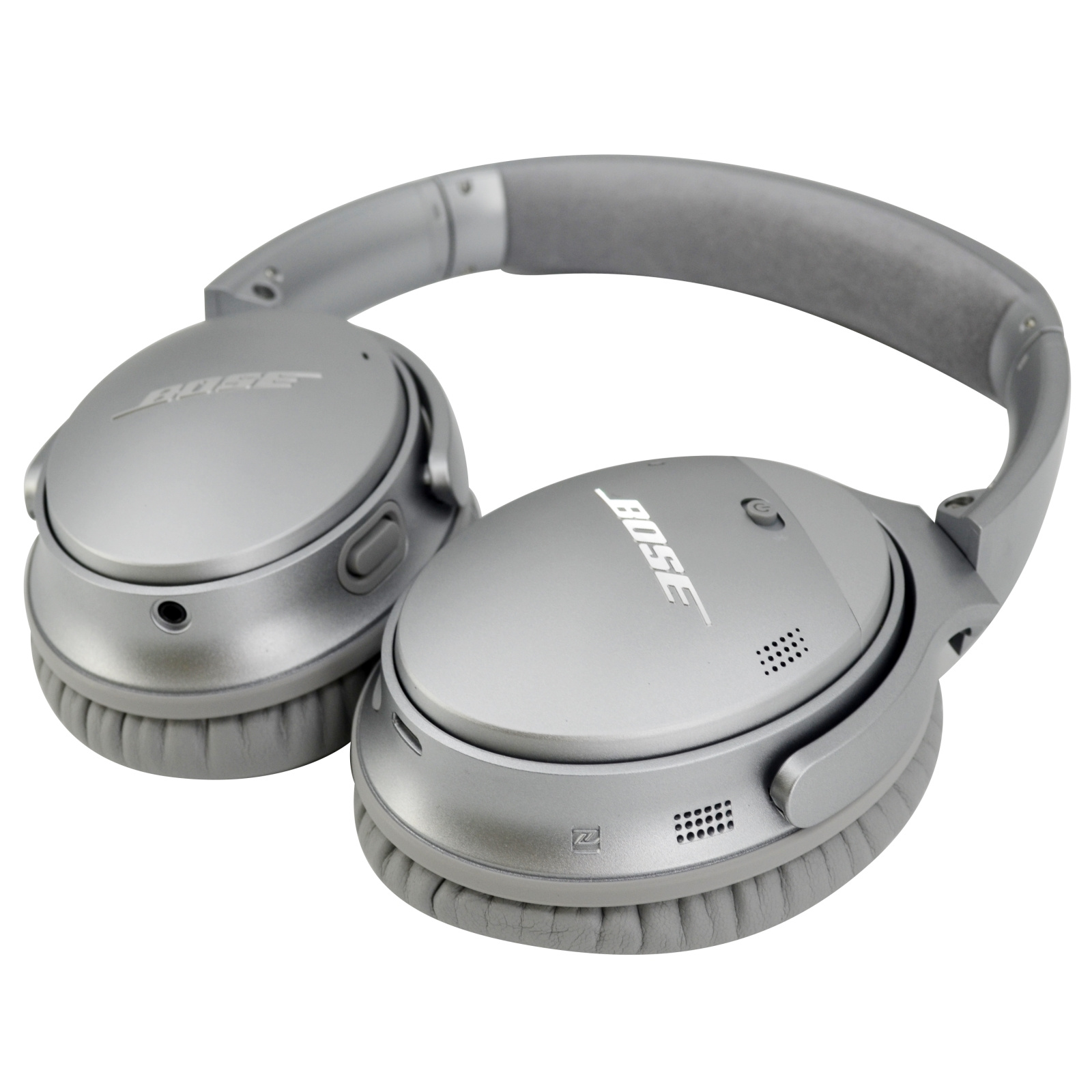 ac22c6ef7fb Bose QuietComfort QC35-II Wireless Noise Cancelling Over-Ear Headphones -  Silver - with Google.