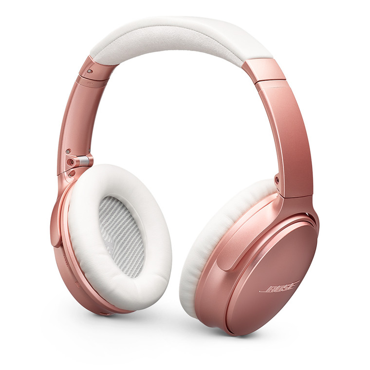 6175b452374 Bose QuietComfort QC35-II Wireless Noise Cancelling Over-Ear Headphones -  Rose Gold Limited Edition - with Google Assistant & Amazon Alexa  integration - the ...