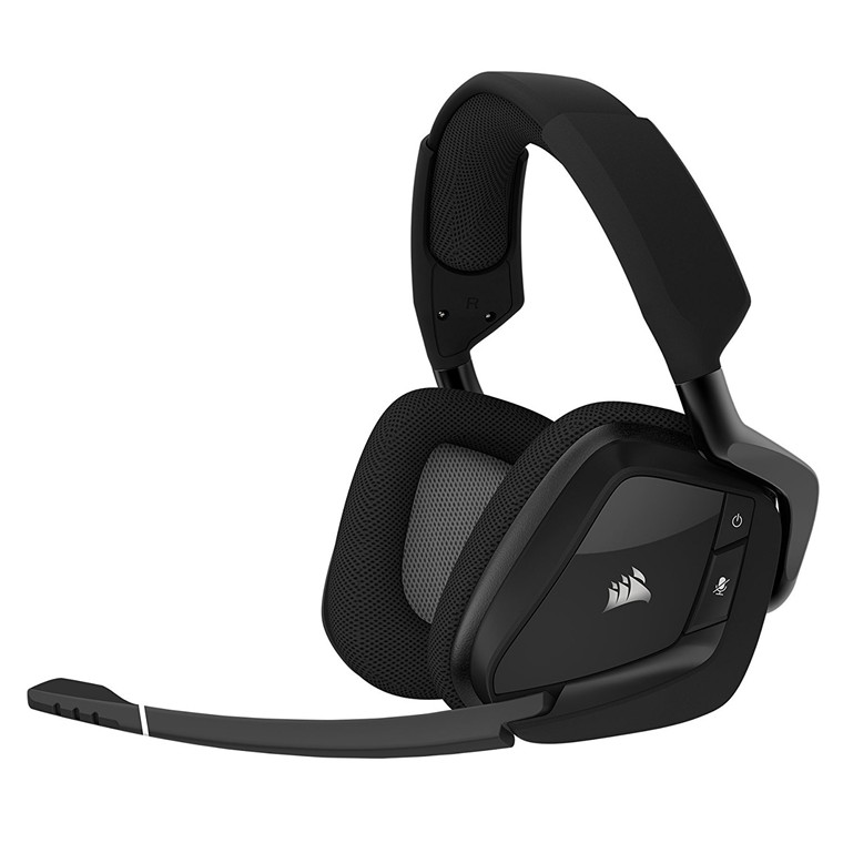 Corsair Void Pro RGB Wireless Dolby 7.1 Surround Sound Gaming Headset For PC - BLACK, Discord Certified, 50mm Drivers, Exceptiona Comfort With Microfiber ...