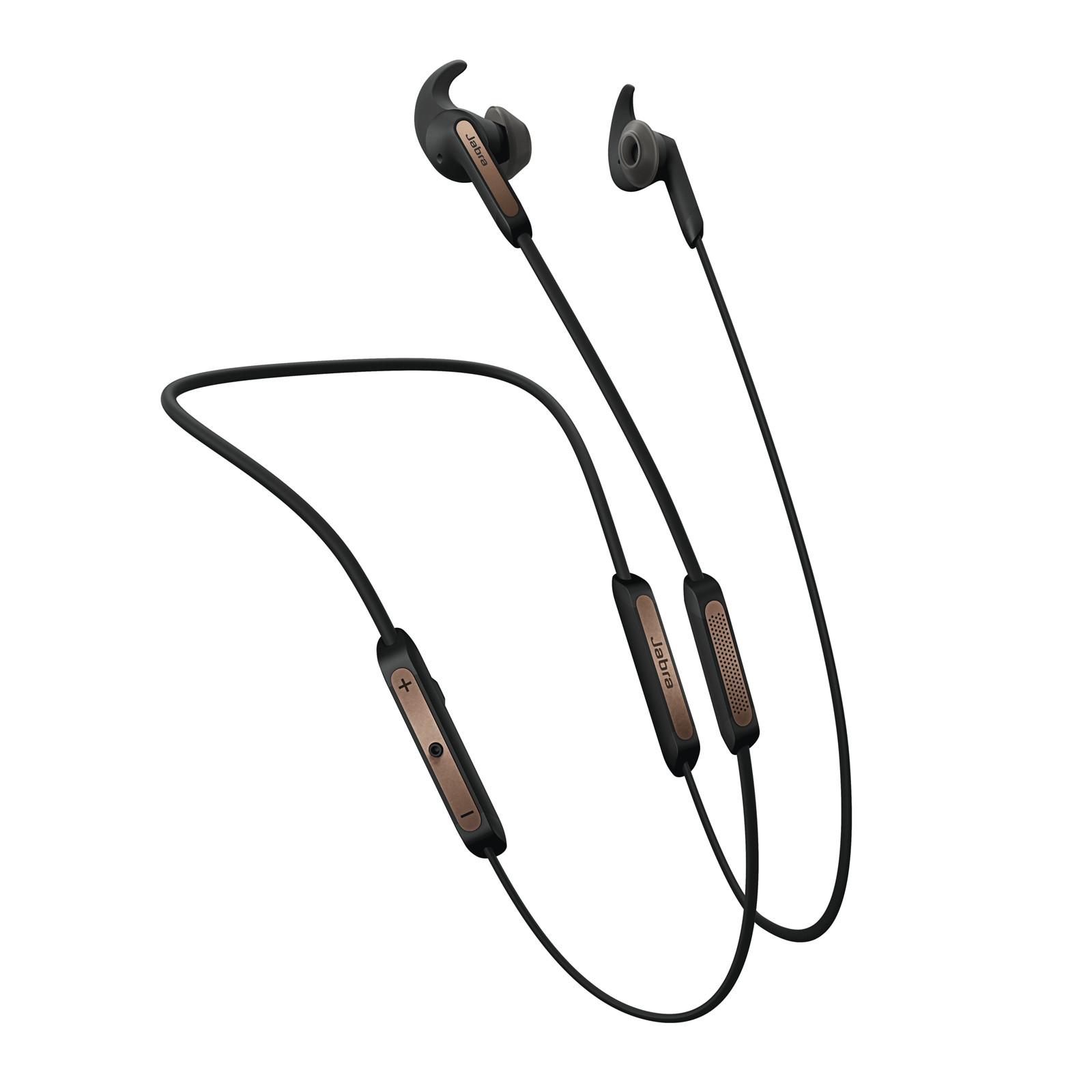 8f2974ad94e Jabra Elite 45e (Copper Black) Wireless Headphones for calls and music,  Crystal-clear sounds, adjustable equalizer and flexible memory wire  neckband.