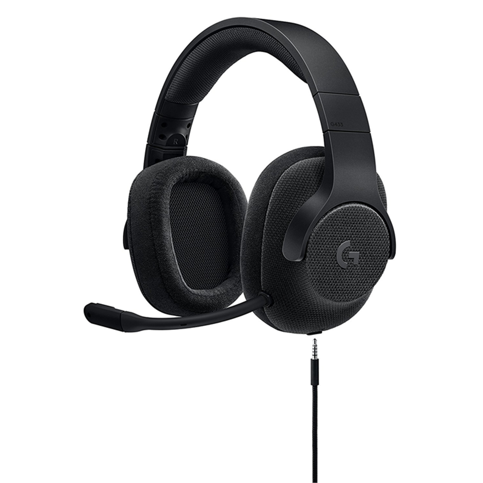 2b4c4177c4b Logitech G433 7.1 Surround Sound USB Gaming Headset - Black, PC and Console  Compatible.