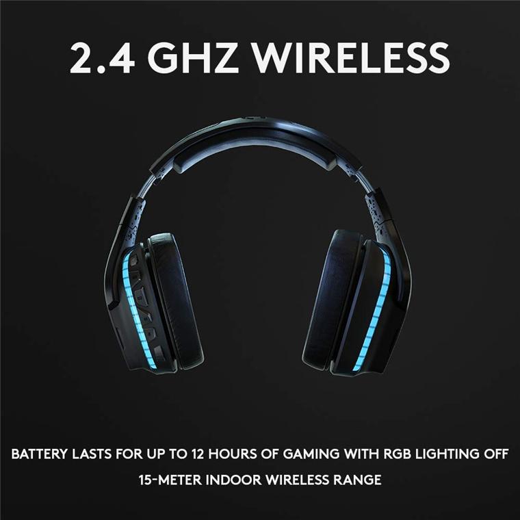 Buy the Logitech G935 Wireless RGB 7 1 Surround Sound LIGHTSYNC Gaming  Headset ( 981-000825 ) online