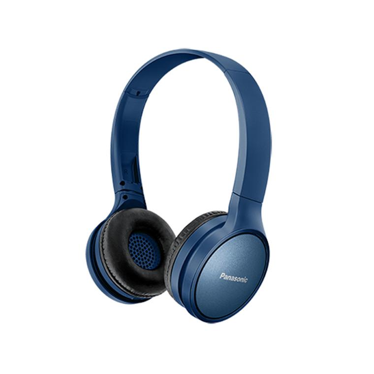 75b3e0155d7 Panasonic RP-HF410BE-A On-Ear Wireless Bluetooth Headphones - Blue - Sharp  Bass & Dynamic Sound - Lightweight foldable design - Up to 24 hours of  battery ...
