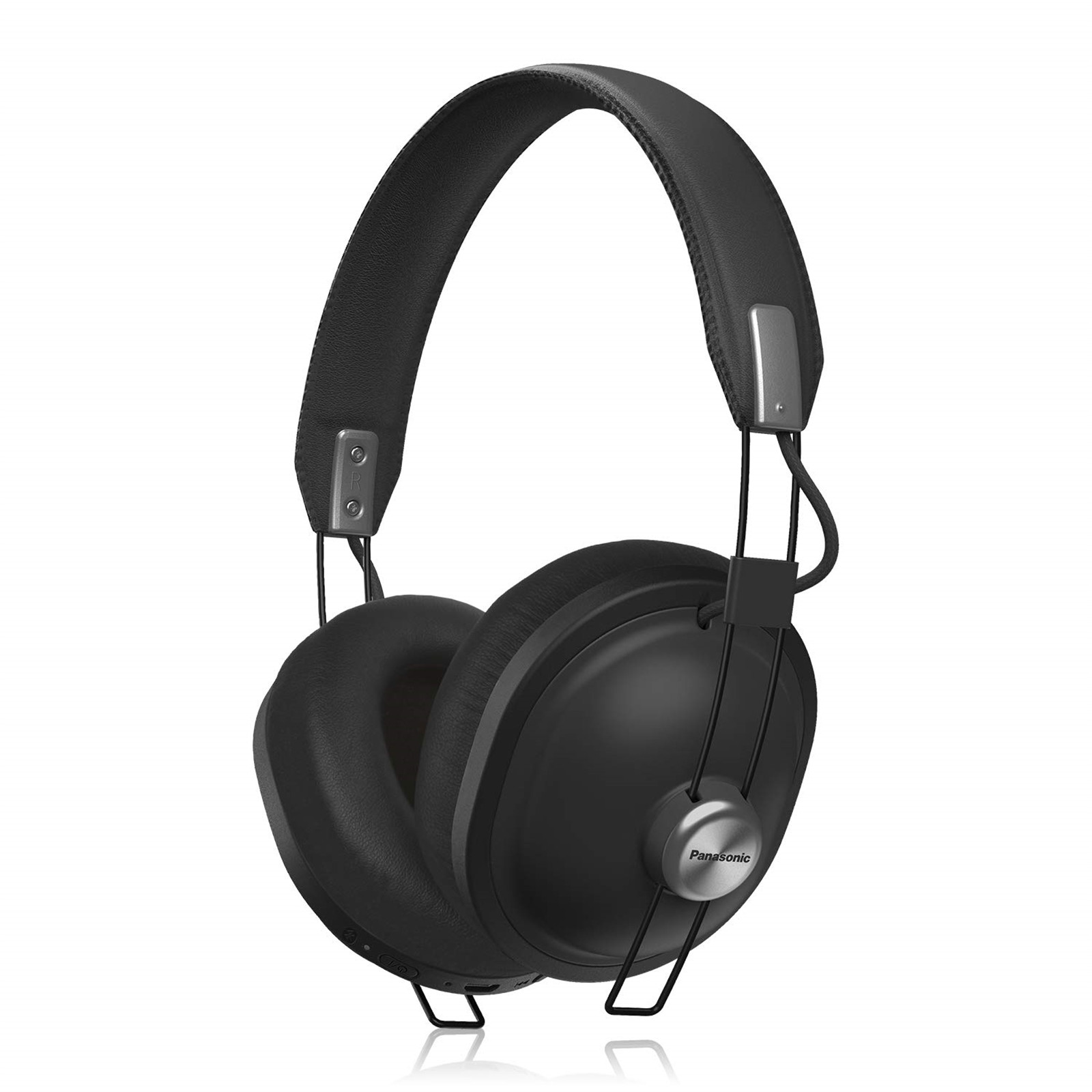 23abaabedab Panasonic RP-HTX80 Wireless Bluetooth Over-Ear Headphones - Black - Retro  style, 24 hours wireless playback, superb comfort, 40mm drivers for vibrant  sound
