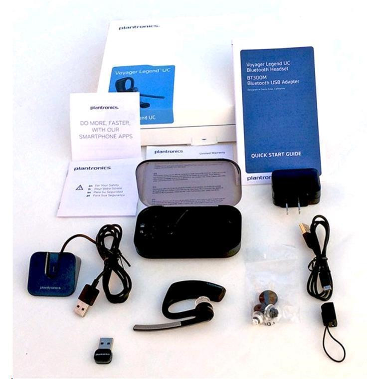 f7fc238cc18 Plantronics B235-M Voyager Legend UC Bluetooth UC Headset - Microsoft Lync  with charging docking and portable charging case