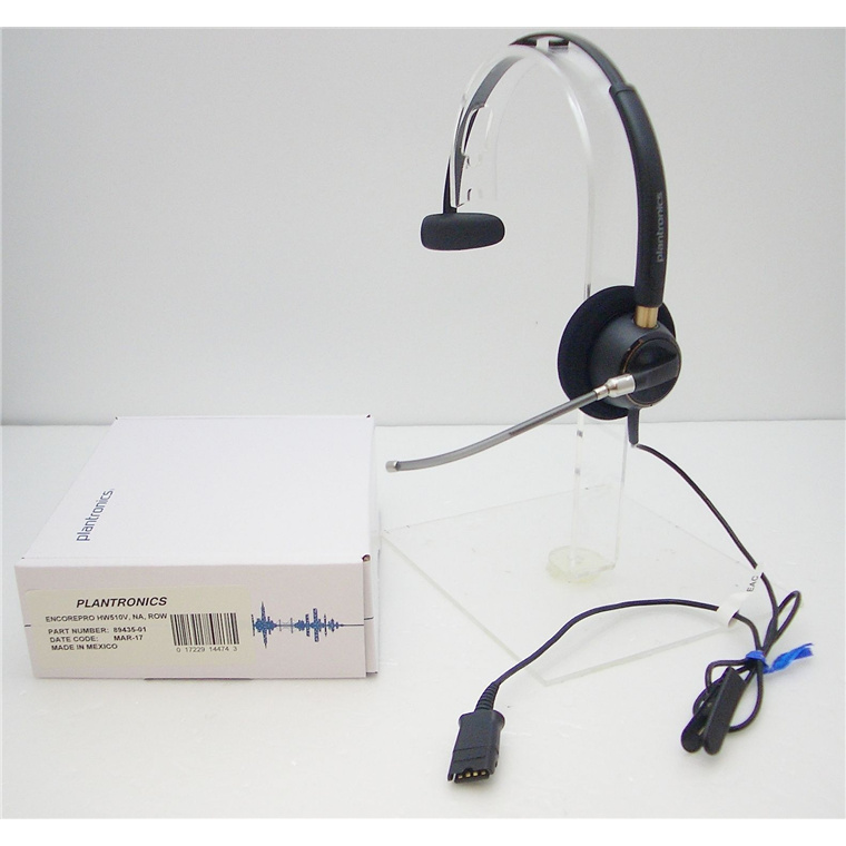 Plantronics 89433-01 Wired Headset Black