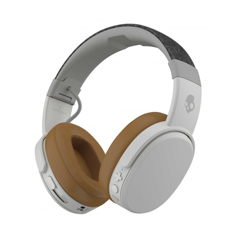 8684300fecc SkullCandy Crusher Wireless Over-ear Headphones - Tan - with Haptic Bass  Feedback for VR, Music, & Gaming - up to 40 hours of battery life