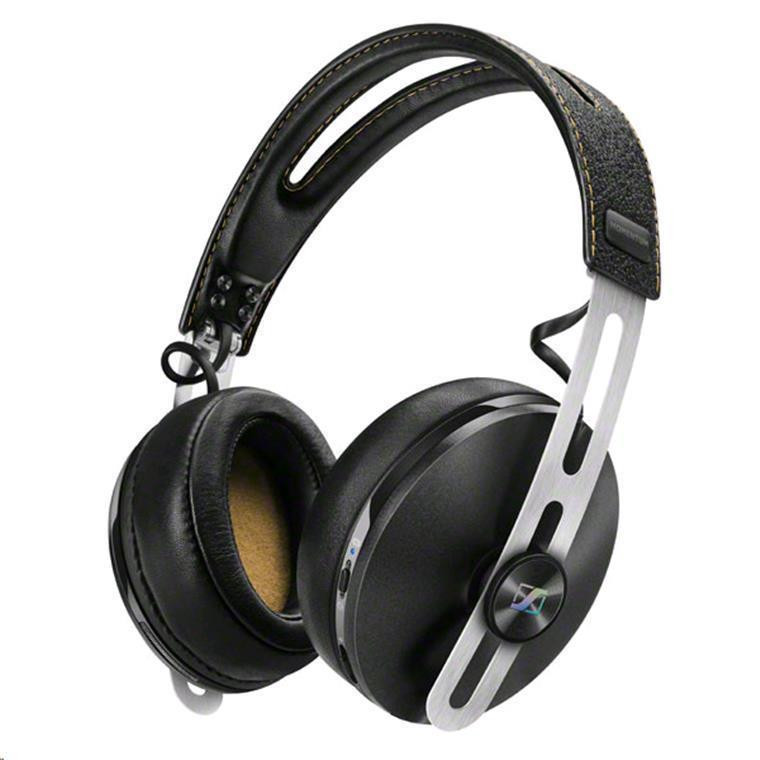4a583d82ebb Sennheiser Momentum 2.0 Wireless Over-Ear Headphones Black - with Active  Noise Cancellation & in-line controls - premium foldable leather + metal  design