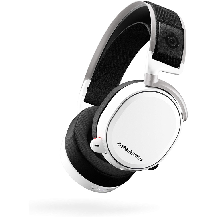 73140de84b3 Steelseries Arctis Pro Wireless Gaming Headset - White, Lossless High  Fidelity Wireless + Bluetooth for PS4 and PC, S1 Premium Speaker Drivers,  ...