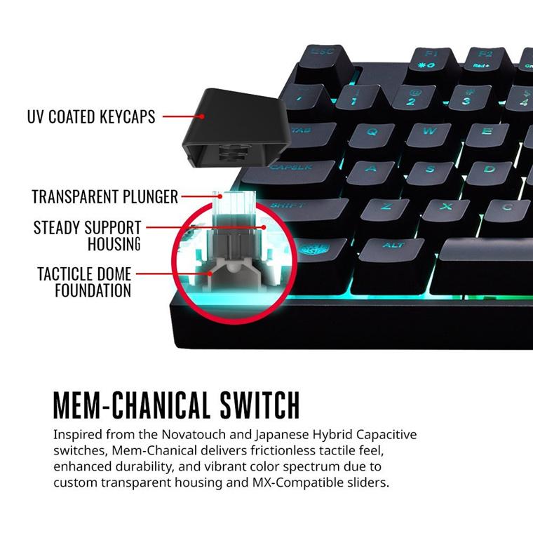 Buy the Cooler Master Masterkeys Lite L RGB Gaming Keyboard Mouse Set,    (  SGB-3040-KKMF1-US ) online