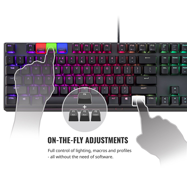 Buy the Cooler Master MK750 RGB Cherry MX Blue Mechanical Gaming  Keyboard,    ( MK-750-GKCL2-US ) online