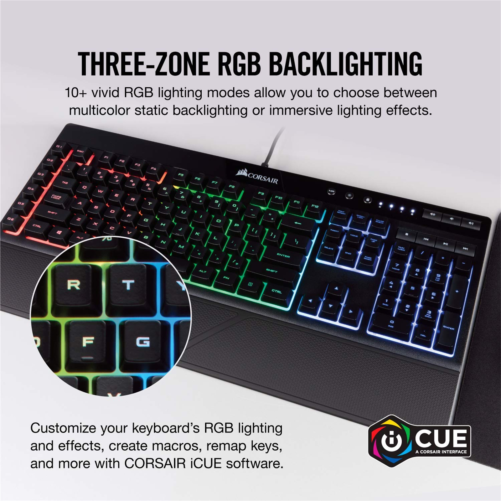 Buy the Corsair Gaming K55 RGB Gaming Keyboard, Quiet
