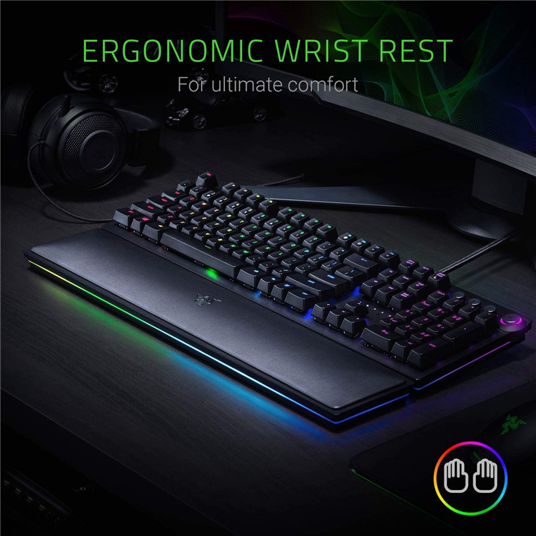 Buy the Razer Huntsman Elite Opto-Mechanical RGB Gaming Keyboard, Multi     ( RZ03-01870100-R3M1 ) online