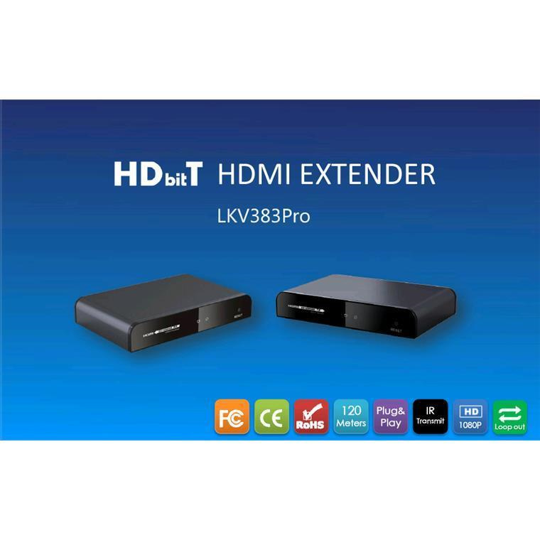Buy the LENKENG LKV383PRO HDBiT HDMI extender over IP