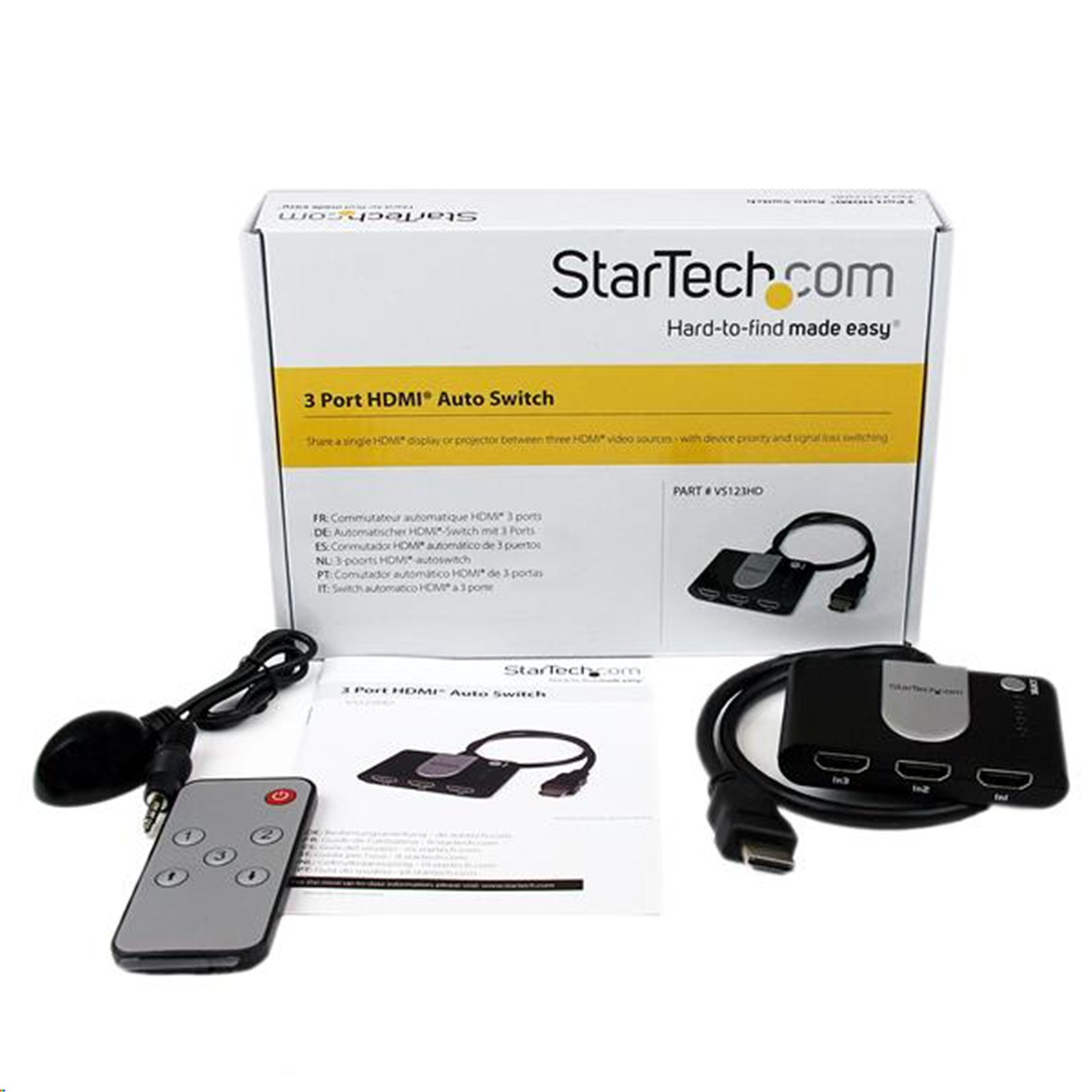Buy The Startech Vs123hd 3 Port Hdmi Auto Switch W Ir Remote Control Extender Circuit Mark