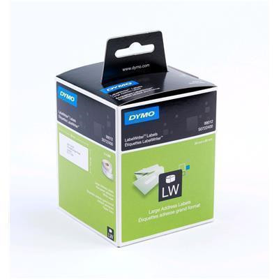 DYMO Large Address, Paper/White 36mm x 89mm, 2 Rolls/Box, 260 Labels/Roll (S0722400)