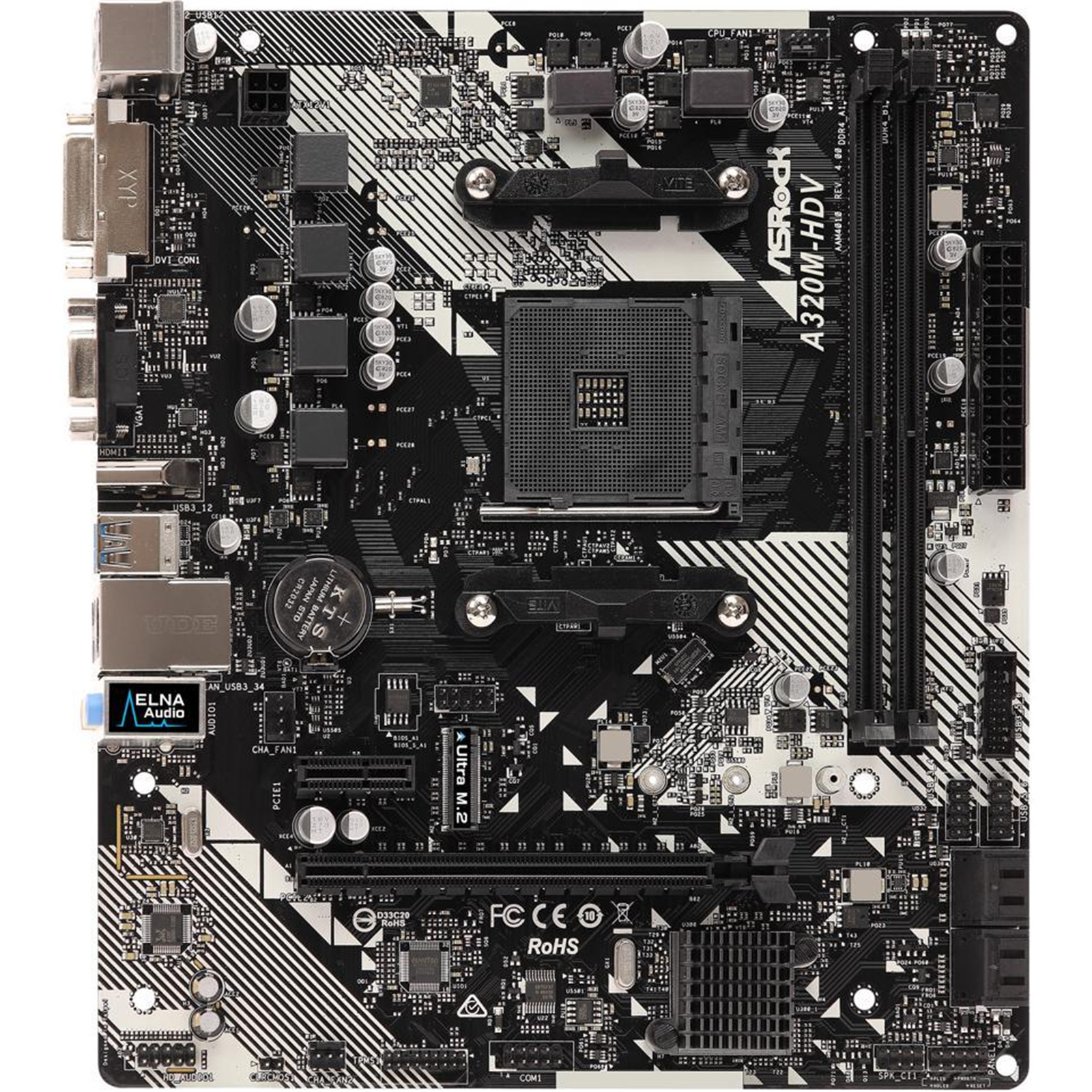 Buy the ASRock A320M-HDV R4 0 mATX motherboard For AMD Ryzen