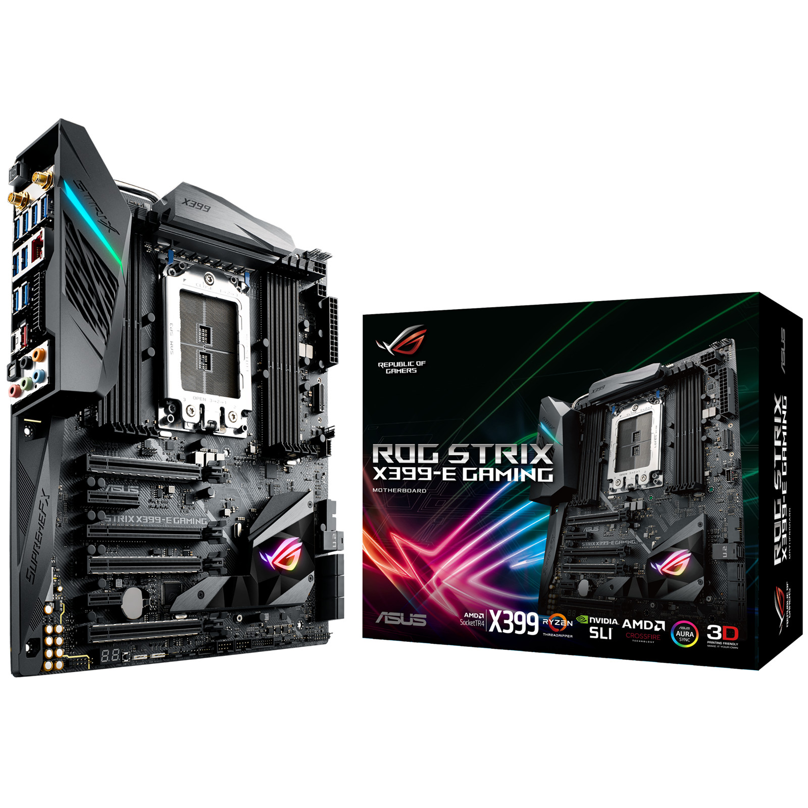 Buy the ASUS ROG STRIX X399-E GAMING EATX X399 Chipset For AMD Ryzen