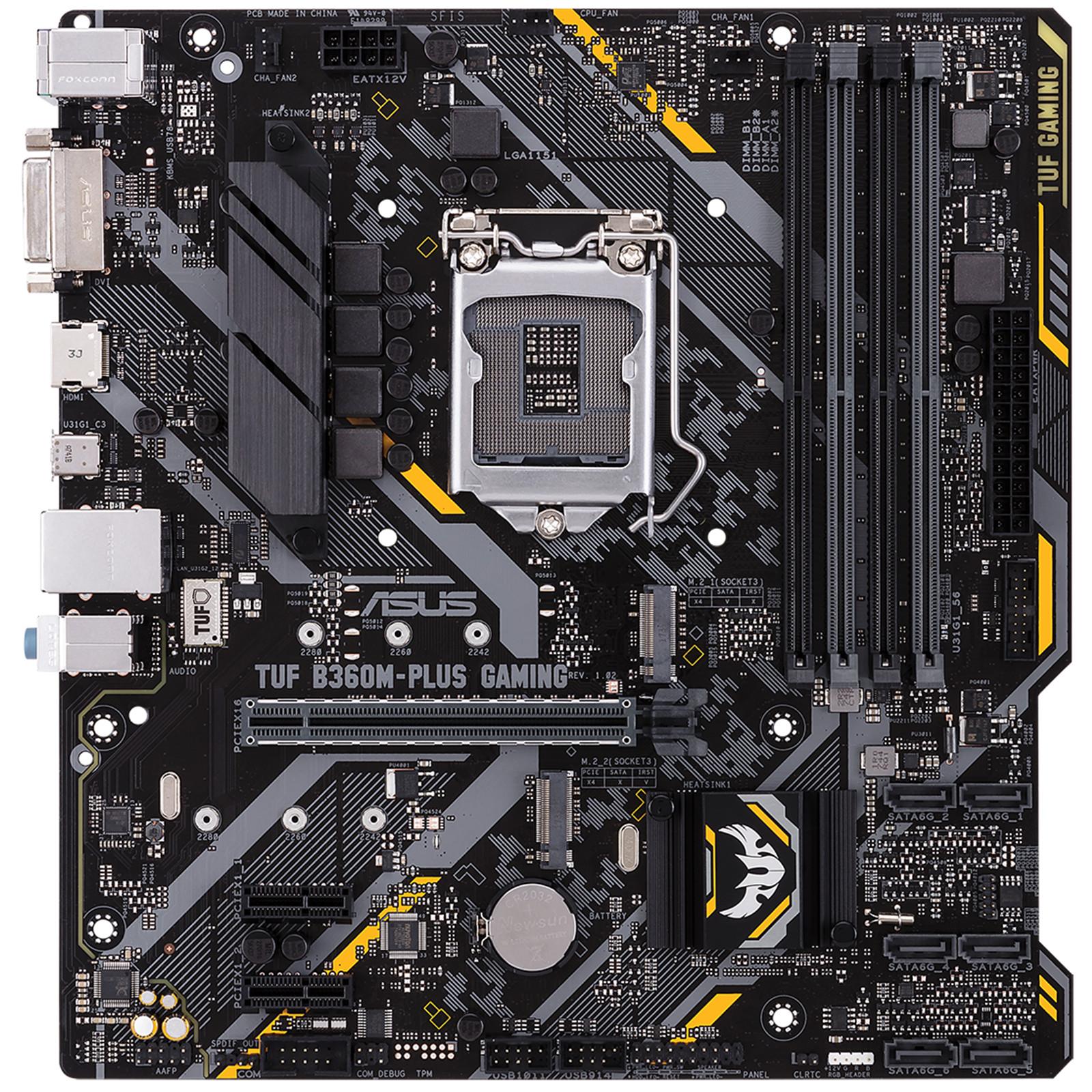Buy the ASUS TUF B360M-PLUS GAMING MATX Form, For Intel 8th/9th Gen
