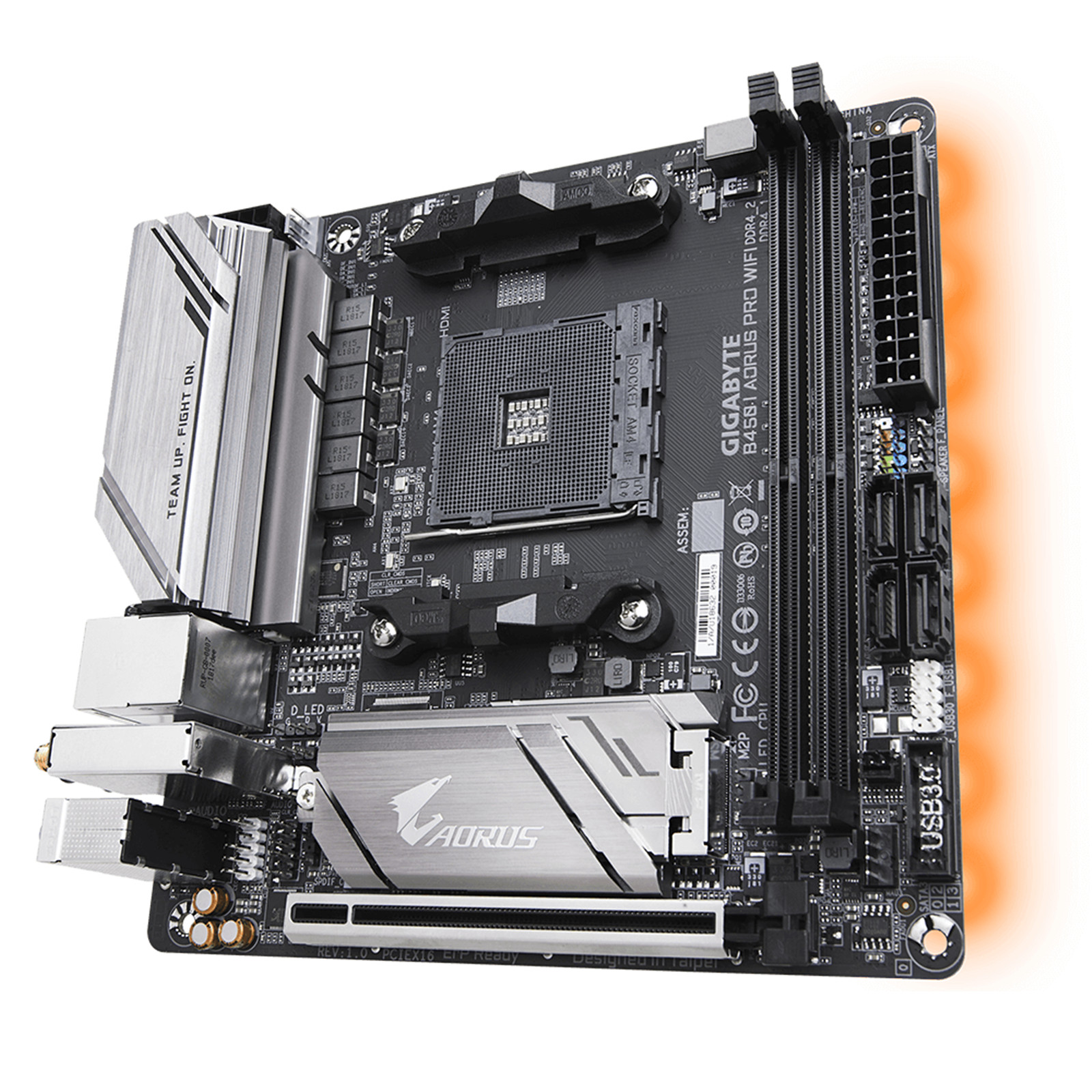 Buy the Gigabyte GA-B450I Aorus Pro WIFI Mini ITX For AMD Ryzen 2nd