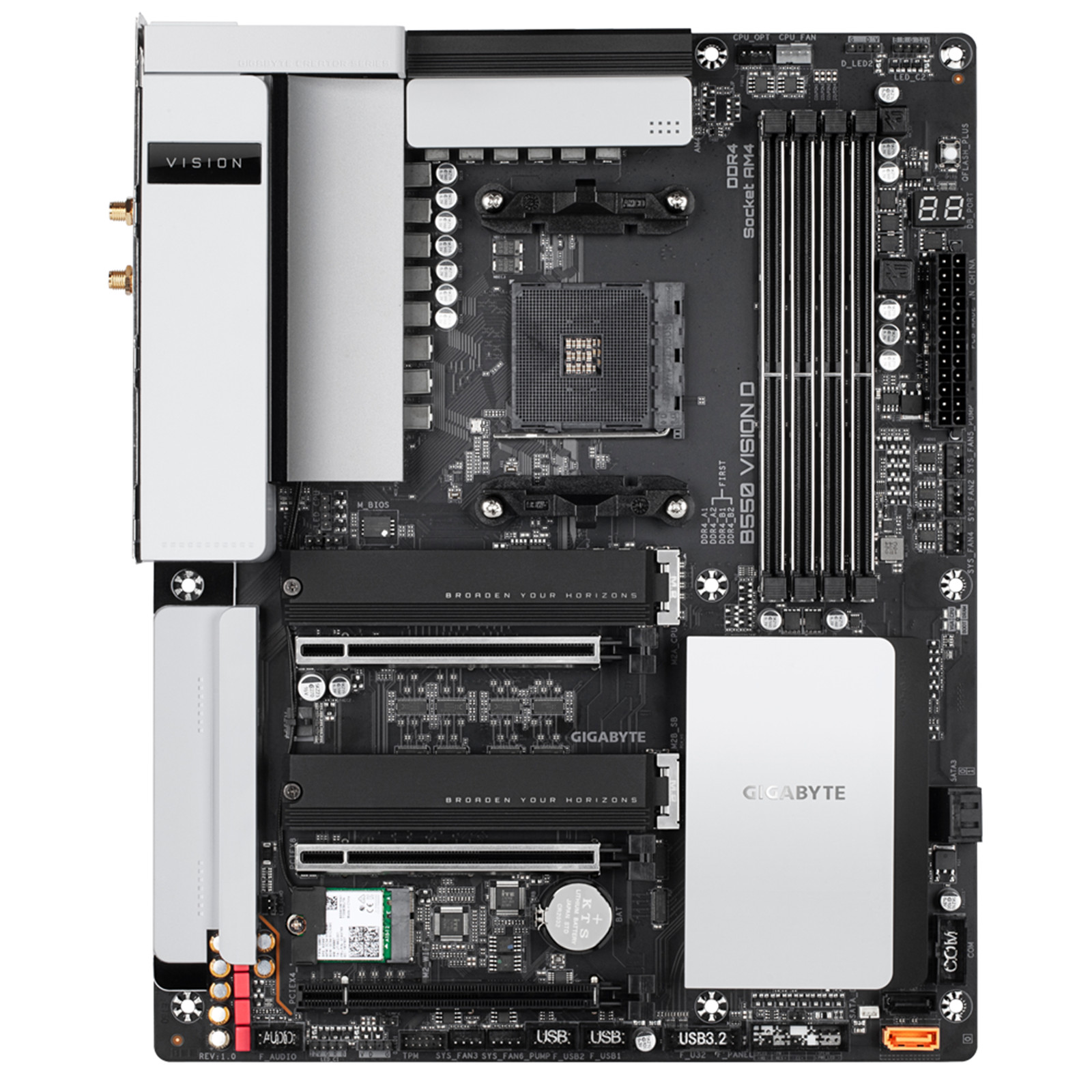Picture of AMD B550 Motherboard with TB3 at PB Tech