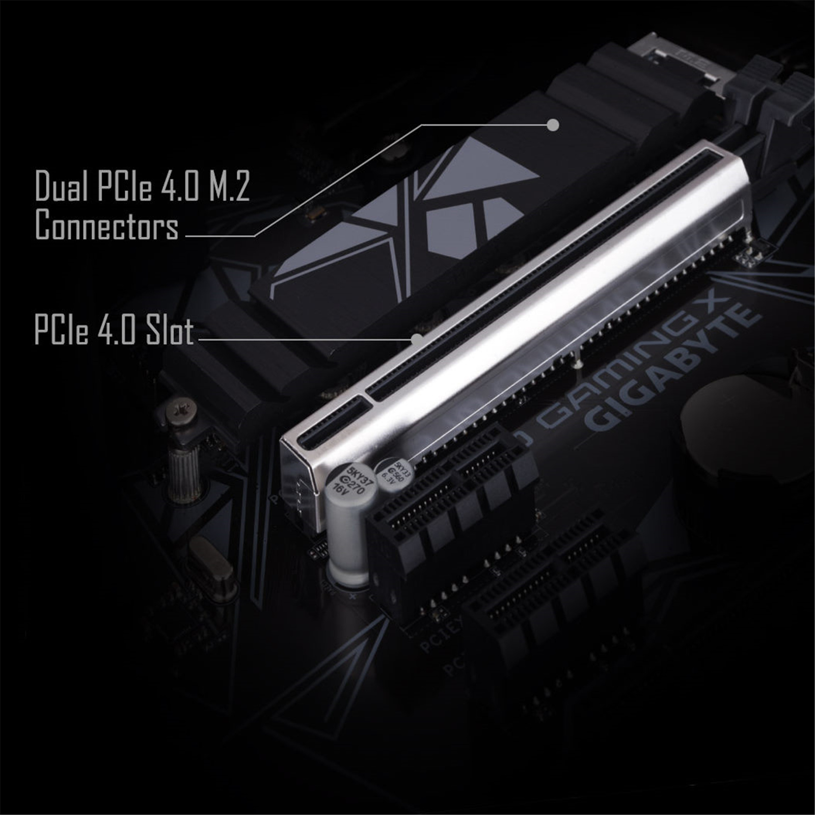 PCIe 4.0 Expansion slot on Gigabyte Gaming X570 Motherboard