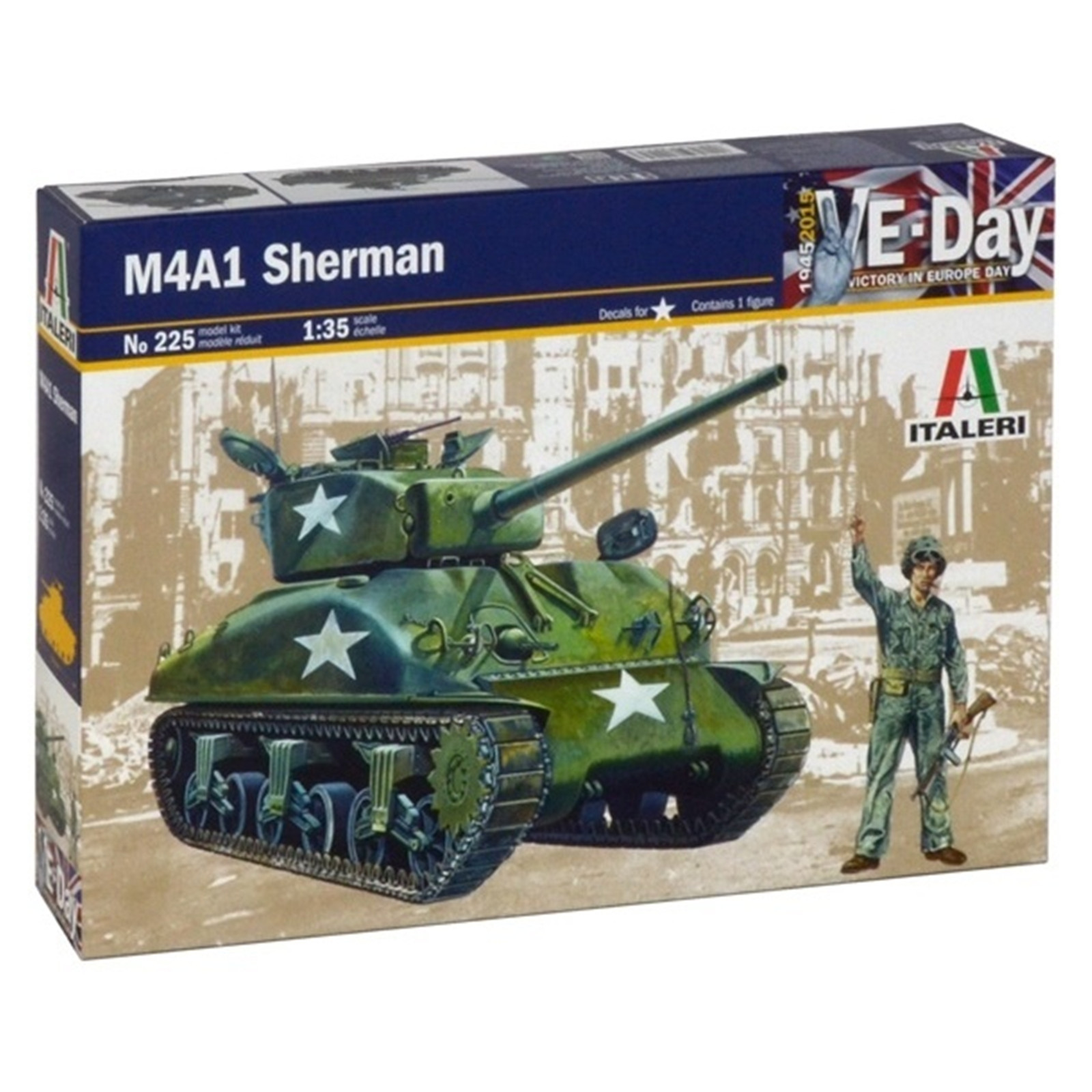 Buy the Italeri - 1/35 - Sherman M4-A1 All ( Italeri 1-225