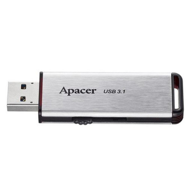 45874d14df8 Apacer AH35A 64GB USB 3.1 Flash Drive Silver. Backwards compatible with USB  3.0