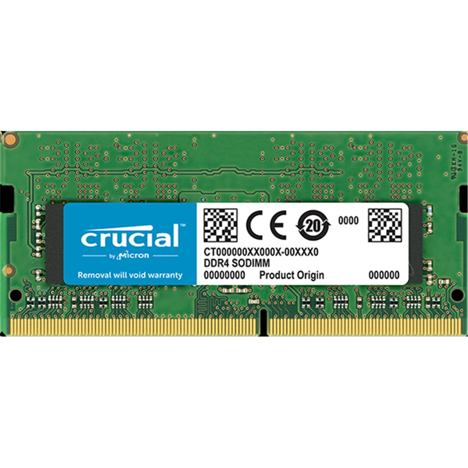 Buy the Crucial 8GB DDR4 SODIMM 2400 MT/s (PC4-19200) CL17 SR x8