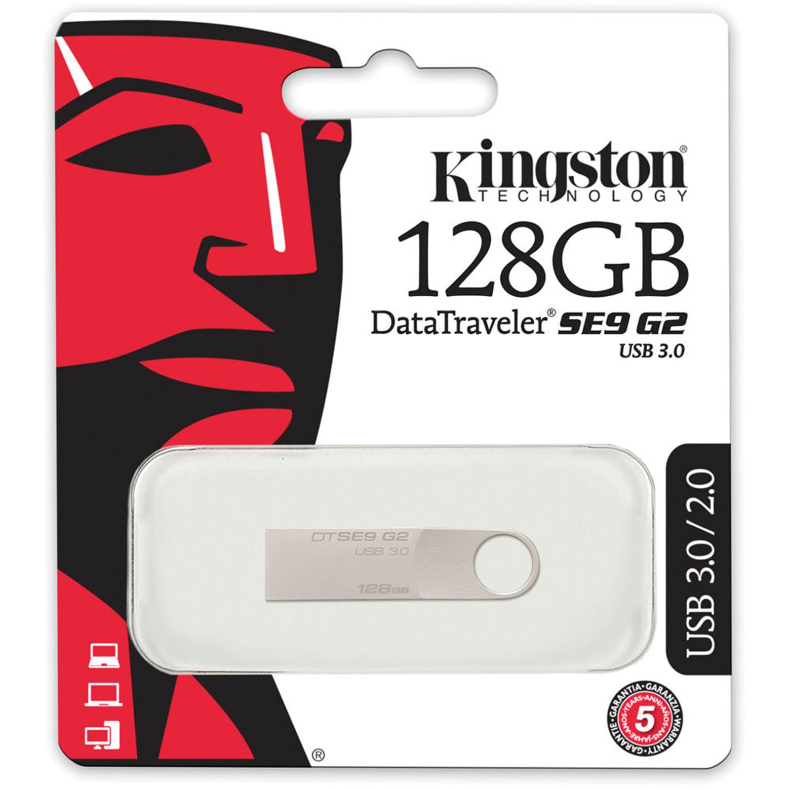 Buy The Kingston 128gb Usb 3 0 Datatraveler Se9 G2 Stylish Metal