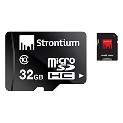 Strontium SR32GTFC6A 32GB Micro SD Class 6 w/ Adaptor