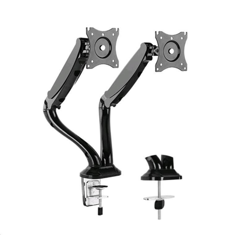 Brateck Lumi Ldt09 C024 13 27 Counter Balance Gas Spring Arm Dual Lcd Desk Mount Max Reach 442mm Tilt 90 90deg Swivel 360deg