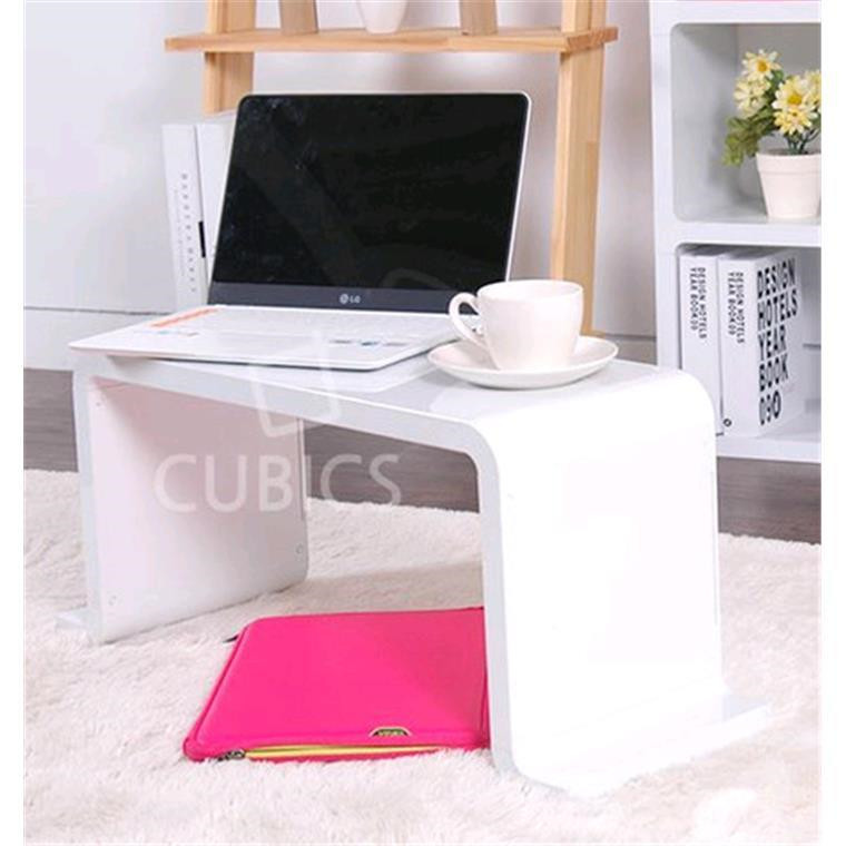 Cubics Laptop Monitor Stand Table Black