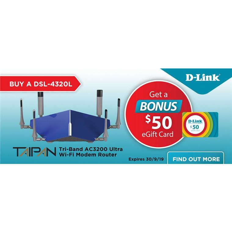 Buy the D-Link TAIPAN DSL-4320L ADSL2+/VDSL2 Wi-Fi Modem
