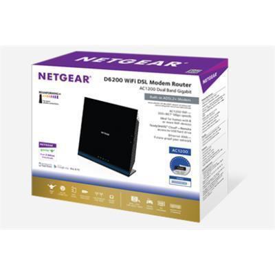 Buy the NETGEAR D6200 Dual Band Wireless-AC1200 ADSL Gigabit